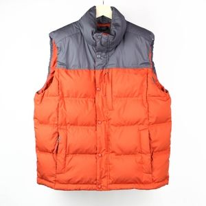 LL Bean Mens Vest Down Insulated Puffer Size Large